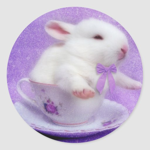 Purple Bundle Of Joy Round Stickers