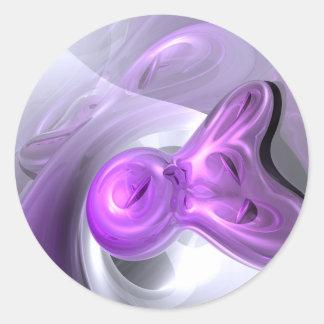 Purple Bunny Abstract Sticker