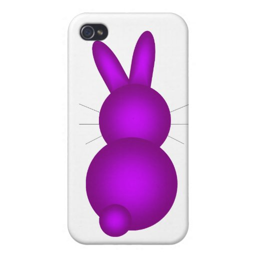 Purple Bunny Back Covers For iPhone 4