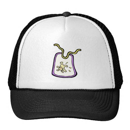 purple bunny bib trucker hat