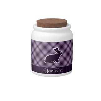 Purple Bunny Candy Dish