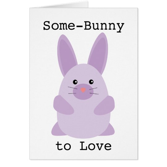 Purple Bunny Card