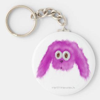 Purple Bunny Critter Keychain