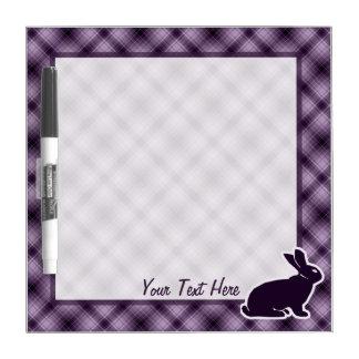 Purple Bunny Dry-Erase Boards