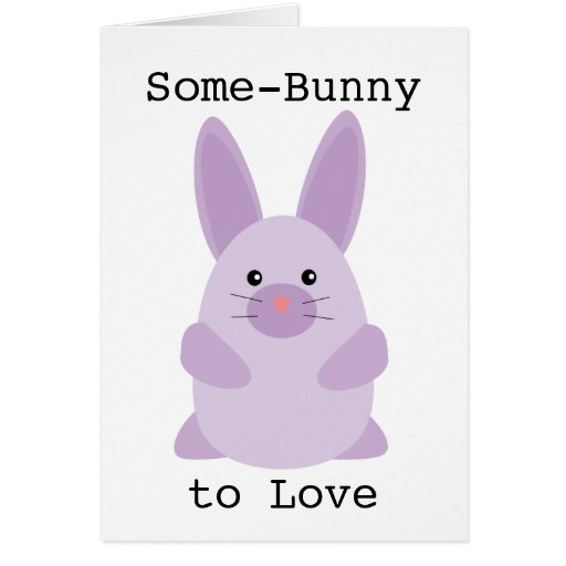 Purple Bunny Greeting Cards