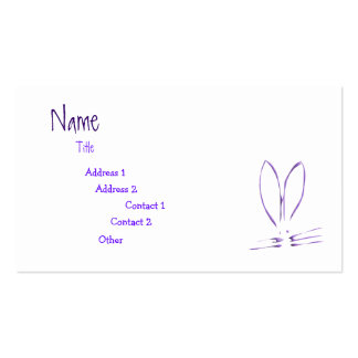 Purple Bunny Hop Double-Sided Standard Business Cards (Pack Of 100)