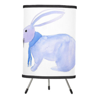 Purple Bunny In A Blue Scarf Lamp