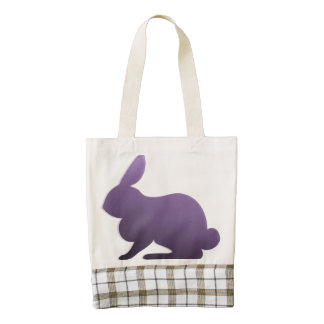 Purple Bunny on Pastel Dots Zazzle HEART Tote Bag