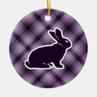 Purple Bunny Ornament