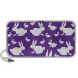 Purple Bunny Pattern iPod Speakers
