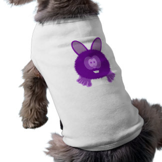 Purple Bunny Pom Pom Pal Dog Tee