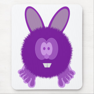 Purple Bunny Pom Pom Pal Mousepad