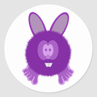 Purple Bunny Pom Pom Pal Stickers