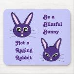 Purple Bunny Rabbit Mousepad