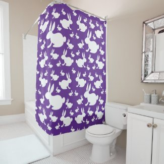 Bunny Rabbits Shower Curtain