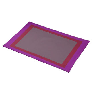 Purple Burgundy and Eggplant Placemat