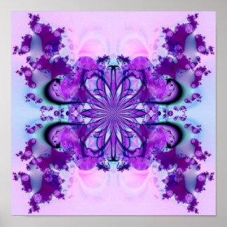 Purple Burst (12 by 12) Art Print Poster