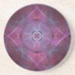 Purple burst fractal coasters