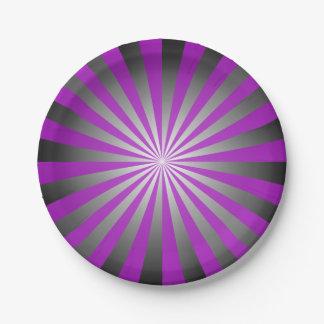 Purple burst paper plate