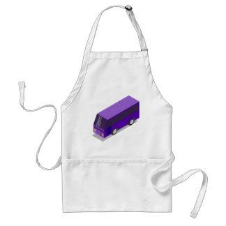 Purple Bus Adult Apron
