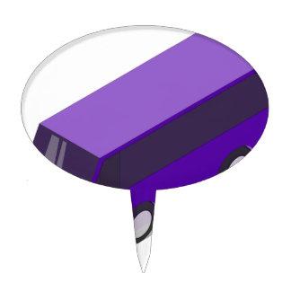Purple Bus Cake Topper