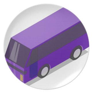 Purple Bus Dinner Plate