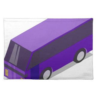 Purple Bus Placemat