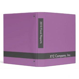 purple business binder