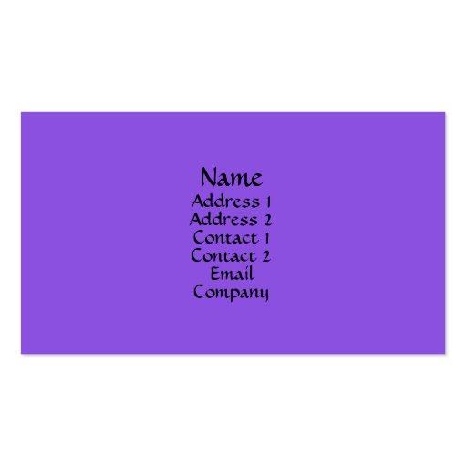 Purple Business Card Template
