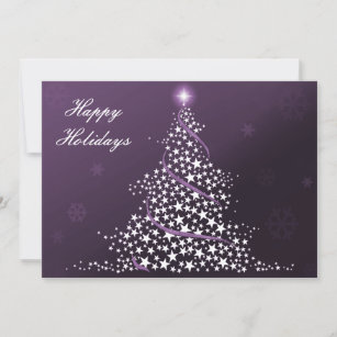 Business holiday cards zazzle purple business holiday flat cards m4hsunfo