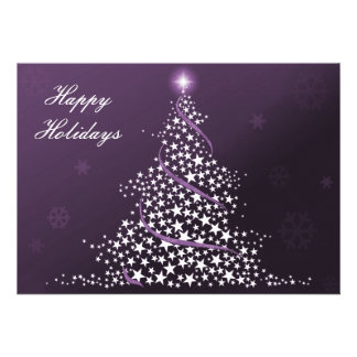 purple Business Holiday Flat cards Announcement
