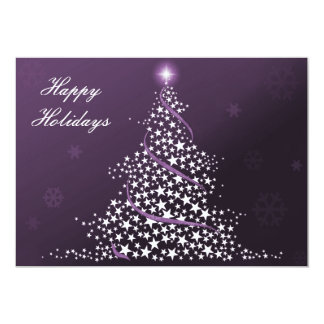 """purple Business Holiday Flat cards 5"""" X 7"""" Invitation Card"""