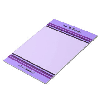 Purple Business Stripes Note Pads