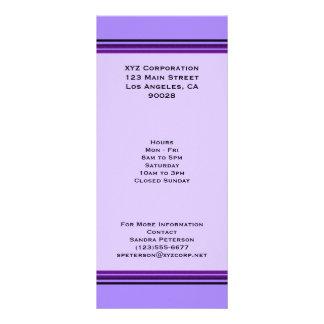 Purple Business Stripes Rack Card