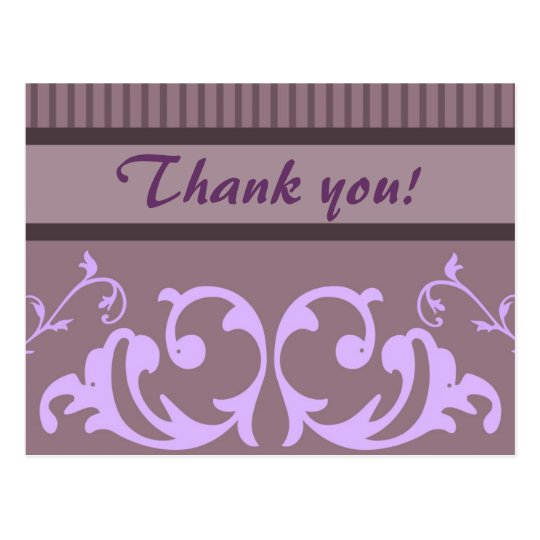 Purple Business Thank You Postcards