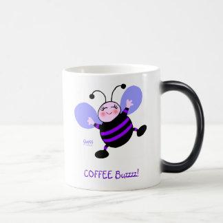 Purple Busy Bee Coffee Buzz Cute Funny Cartoon Magic Mug