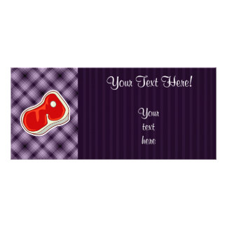 Purple Butcher s Steak Custom Rack Card