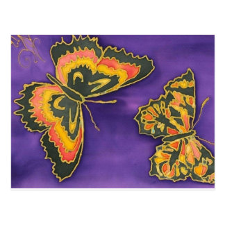 Purple Buterflys Postcard