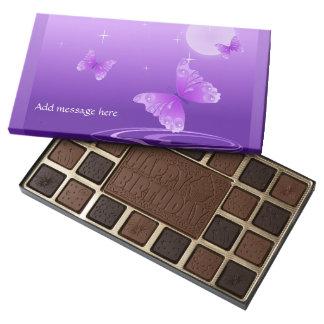 Purple Butterflies 45 Piece Assorted Chocolate Box
