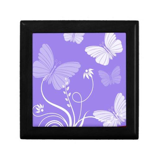 "Purple butterflies 5"" Gift Box"