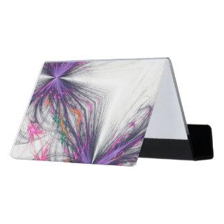 Purple Butterflies Abstract Desk Business Card Holder