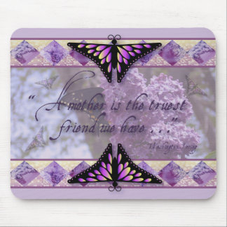 Purple Butterflies and Lilacs Mouse Pad