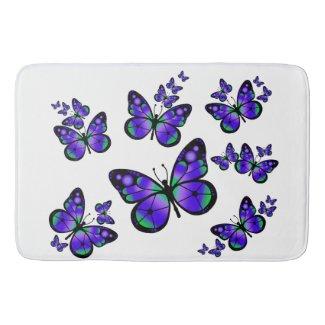 Purple Butterflies Bathroom Mat