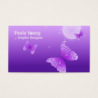 Purple Butterflies Business Card
