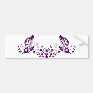 Purple Butterflies Car Bumper Sticker