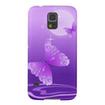 Purple Butterflies Case For Galaxy S5