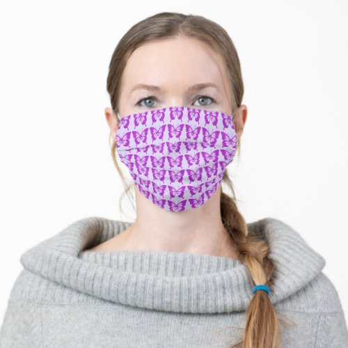 Purple Butterflies Cloth Face Mask