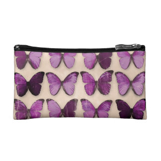 Purple Butterflies Cosmetic Bag