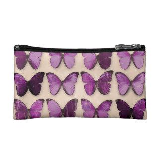 Purple Butterflies Cosmetic Bag