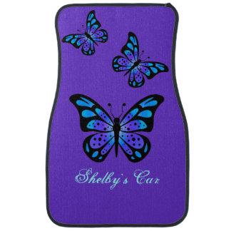 Purple Butterflies Custom Car Mats